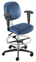 BioFit Stool with Adjustable Height Footring